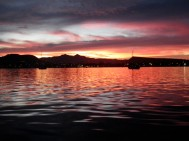 Sunrise the morning we left the boat.