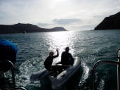 Tim and Steve off to spear hunt and snorkel.