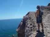 Hiking the ridge line at Isla San Fran