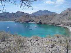 A view from our hike of the north beach at Agua Verde.