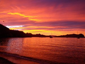 Sailing sunsets in Sea of Cortez