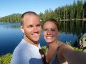 Us enjoying Huntington Lake.