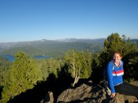 The top of Black Point trailhead overlooking Huntington Lake, I think.