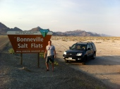 Stopping at the Salt Flats
