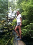 Me climbing up near the lower Proxy Falls.