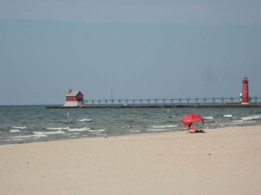 Lake Michigan is so cool. It is just like the ocean, only no salt!