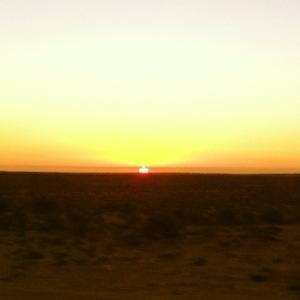 Sunset in Guerro Negro