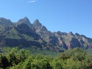Green Baja Mountains