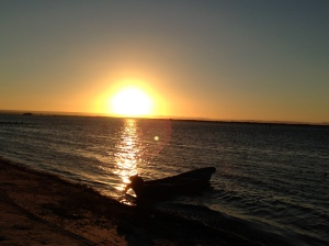 La Paz Sunset with boat
